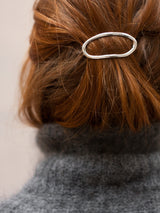 Soft oval barrette