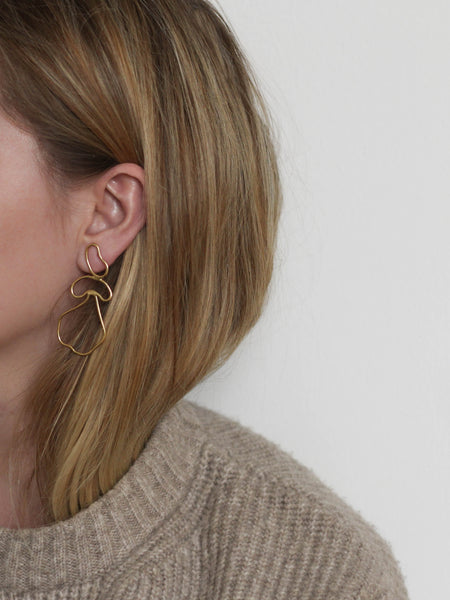 Balance earrings no. 01 in gold vermeil