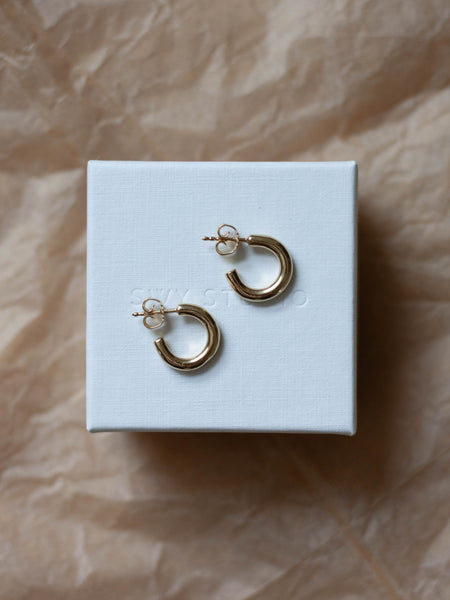 Chunky hoops in gold vermeil