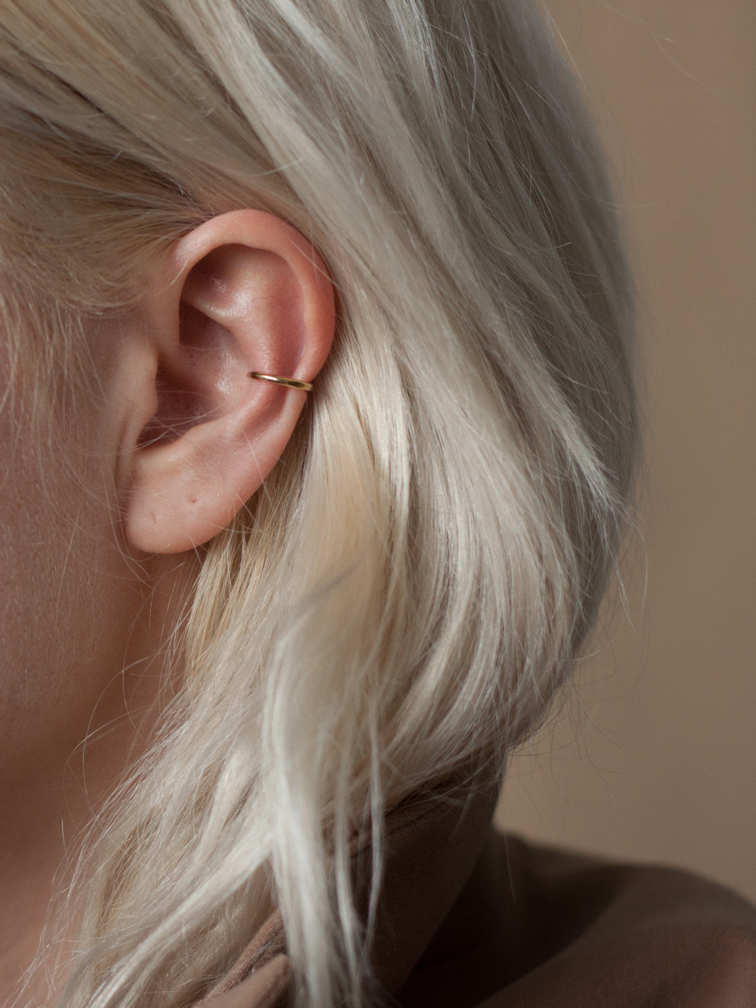 Minimal ear cuff in gold vermeil