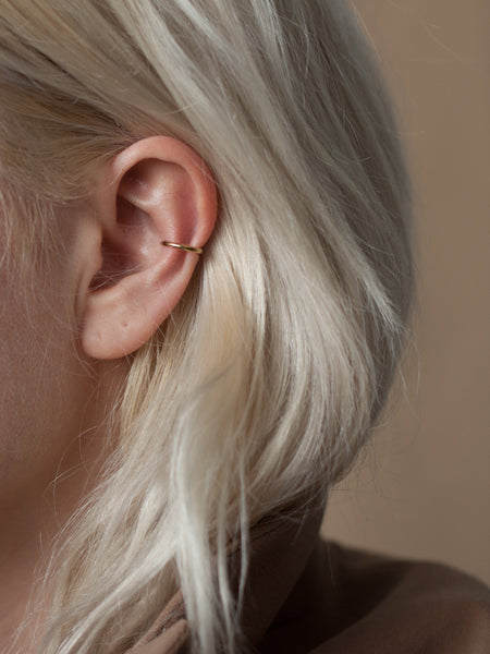 Minimal ear cuff in gold vermeil -  ready to ship