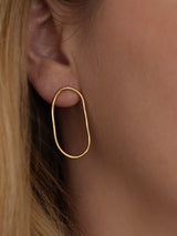 Link earrings in Gold vermeil