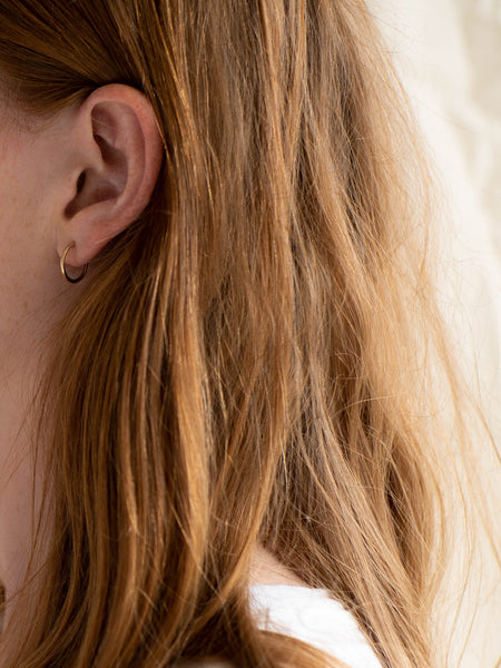 Simple hoops small in gold vermeil