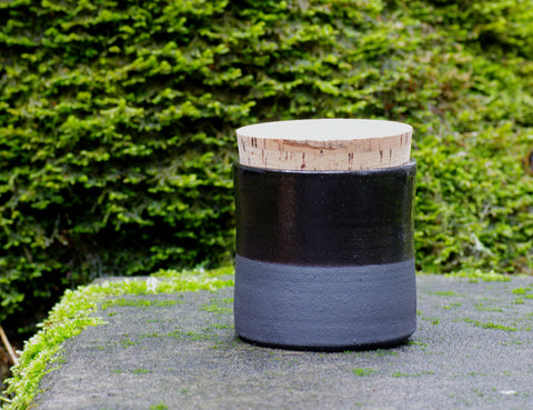 Black Corked Canister