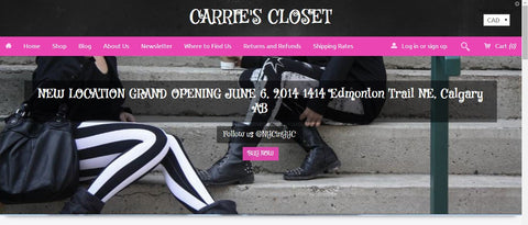 CarriesCloset.ca website gets a