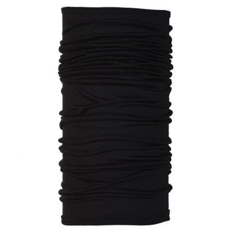 Black Merino Wool Buff - Carrie's Closet  - 1