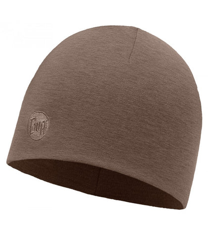 Solid Walnut Heavyweight Merino Wool Buff Hat - Carrie's Closet