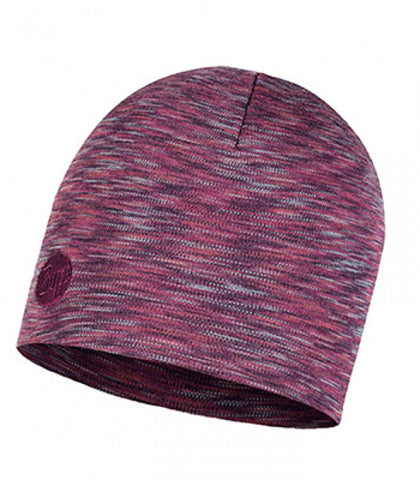Shale Grey Multicolored Heavyweight Merino Wool Buff Hat - Carrie's Closet