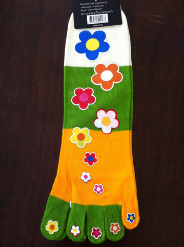 Flower Power Toe Socks - Carrie's Closet  - 1