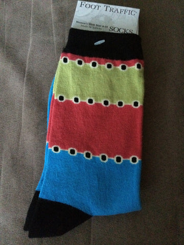 Color Block Women's Socks - Carrie's Closet  - 1