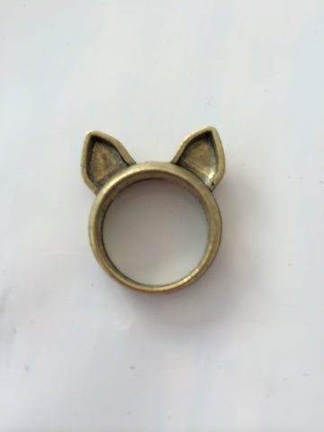 Gold Colored Cat Ring - Carrie's Closet