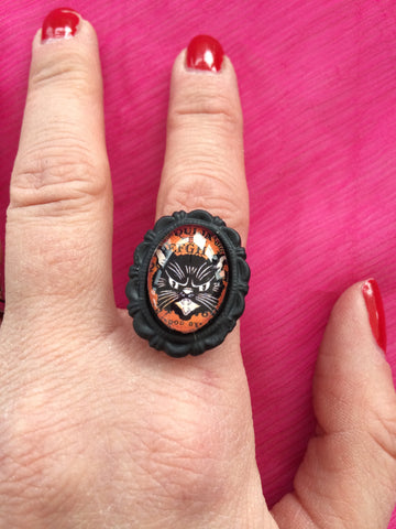 cat ouija adjustable ring - Carrie's Closet