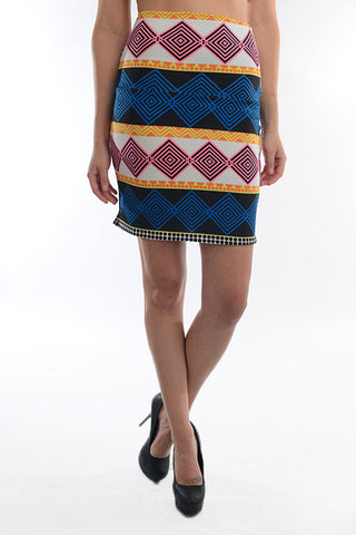 Bright Geometric Skirt - Carrie's Closet