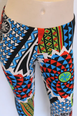 KIDS Colorful Patterned girls Leggings children size 3 and 9 LEFT - Carrie's Closet - 3