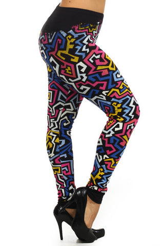 Grafitti Plus Size Leggings - Carrie's Closet
