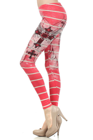 Cross Adorned Leggings - Carrie's Closet