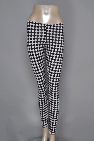 Checkered Leggings - Carrie's Closet