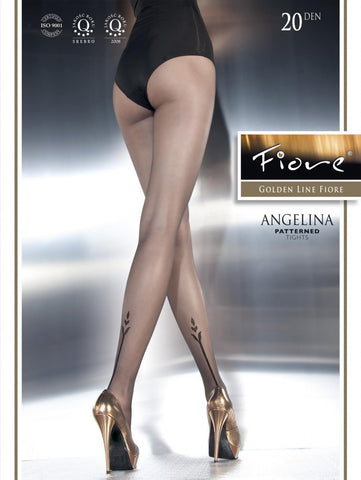 Angelina Patterned Tights 20 den Fiore Hosiery - Carrie's Closet