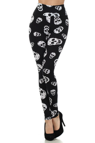 High Waist skull leggings - SMALL - Carrie's Closet  - 1