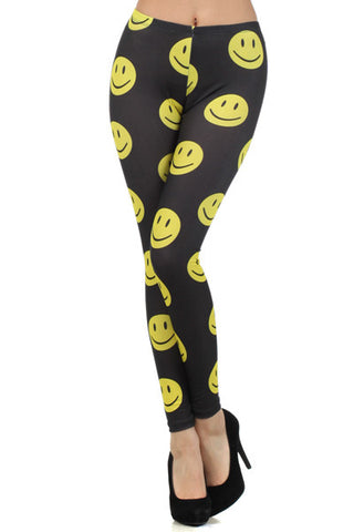 Happy Face Leggings - Carrie's Closet