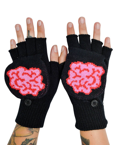Brains Flip Top Mittens - Carrie's Closet