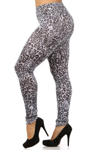 gray leopard leggings - Carrie's Closet