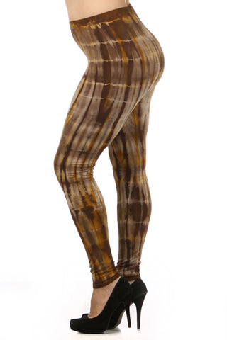 Earth Tone Tie Dye Leggings - Carrie's Closet