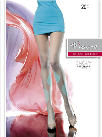 CALGARY Patterned Tights 20 den Fiore Hosiery - Carrie's Closet