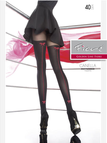 CANELLA Patterned Tights Fiore Hosiery - Carrie's Closet