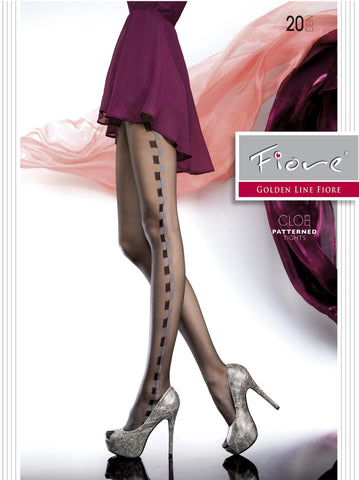 CLOE Patterned Tights 20 Den Fiore Hosiery - Carrie's Closet