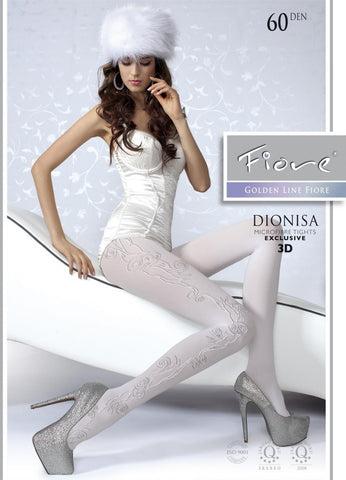 DIONISA Patterned Tights 60 den Fiore Hosiery - Carrie's Closet
