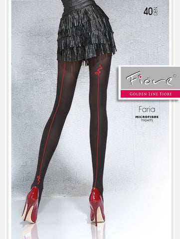 FARIA Patterned Tights 40 den Fiore Hosiery - Carrie's Closet