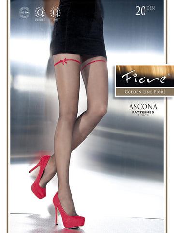 Ascona Patterned Tights 20 den Fiore Hosiery - Carrie's Closet