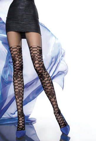 ALTEA Patterned Tights 40 den Fiore Hosiery - Carrie's Closet
