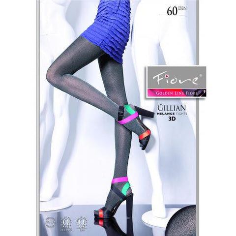 Gillian Patterned Tights 60 den Fiore Hosiery - Carrie's Closet