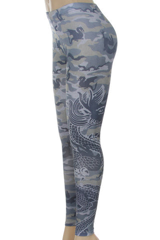 Camouflage Dragon Leggings - Carrie's Closet  - 3