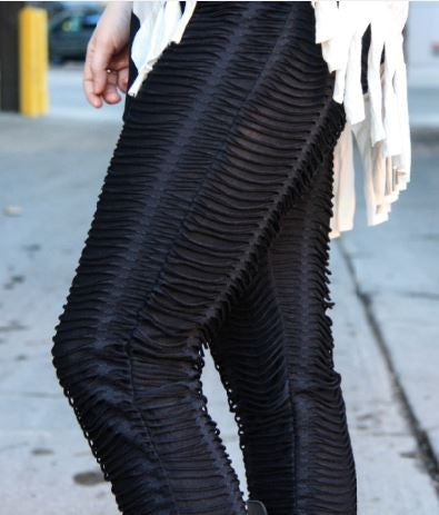 Textured Leggings in Black - Carrie's Closet