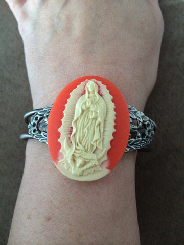 Virgin Mary Cuff Bracelet - Carrie's Closet
