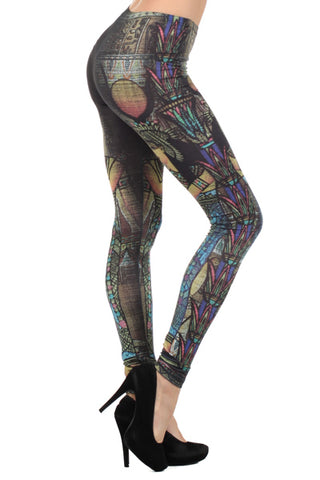 ladies burnout egyptian leggings - Carrie's Closet