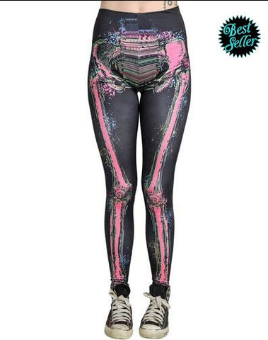 Electric Skeleton Leggings - Carrie's Closet