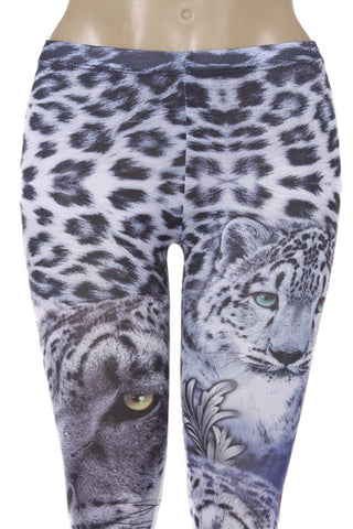 Snow Leopard Leggings - Carrie's Closet