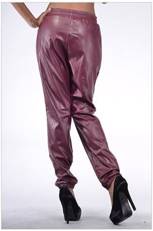 Faux Leather Harem Pants - Carrie's Closet