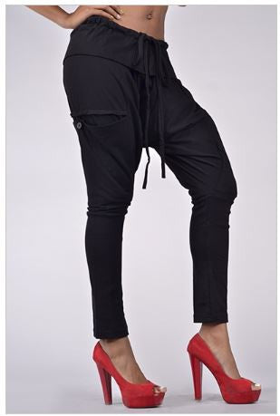Cotton Pocketed Harem Pants - Carrie's Closet