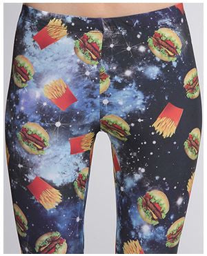 galaxy burger and fries leggings - Carrie's Closet