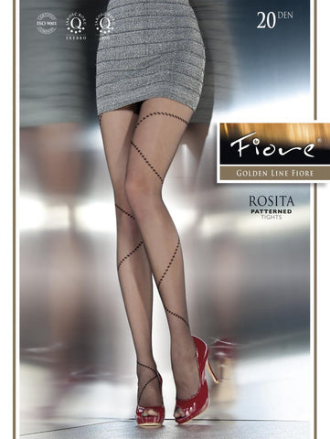 ROSITA Patterned Tights 20 den - Carrie's Closet