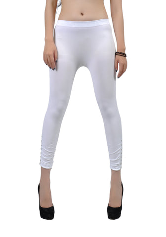 Soho Girls White One Size Leggings - Carrie's Closet