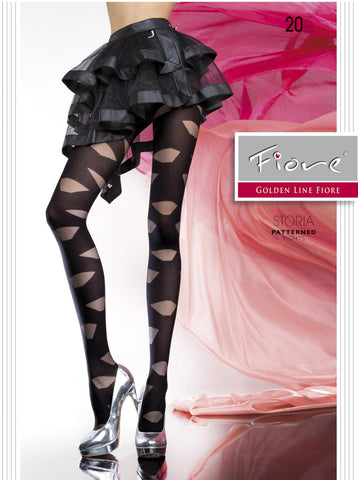 STORIA Patterned Tights 20 den - Carrie's Closet