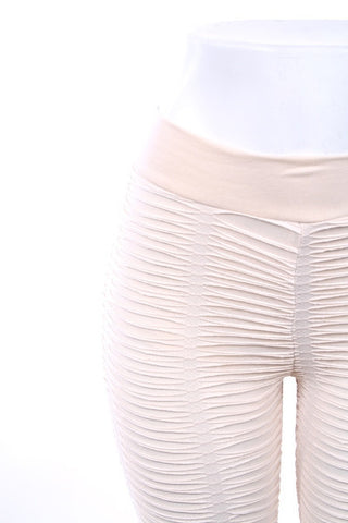 Textured Leggings in Ivory or Black - Carrie's Closet