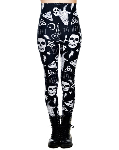 Skull Addicted Leggings - Carrie's Closet