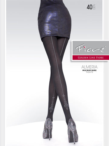 ALMERIA Patterned Tights 40 den Fiore Hosiery - Carrie's Closet